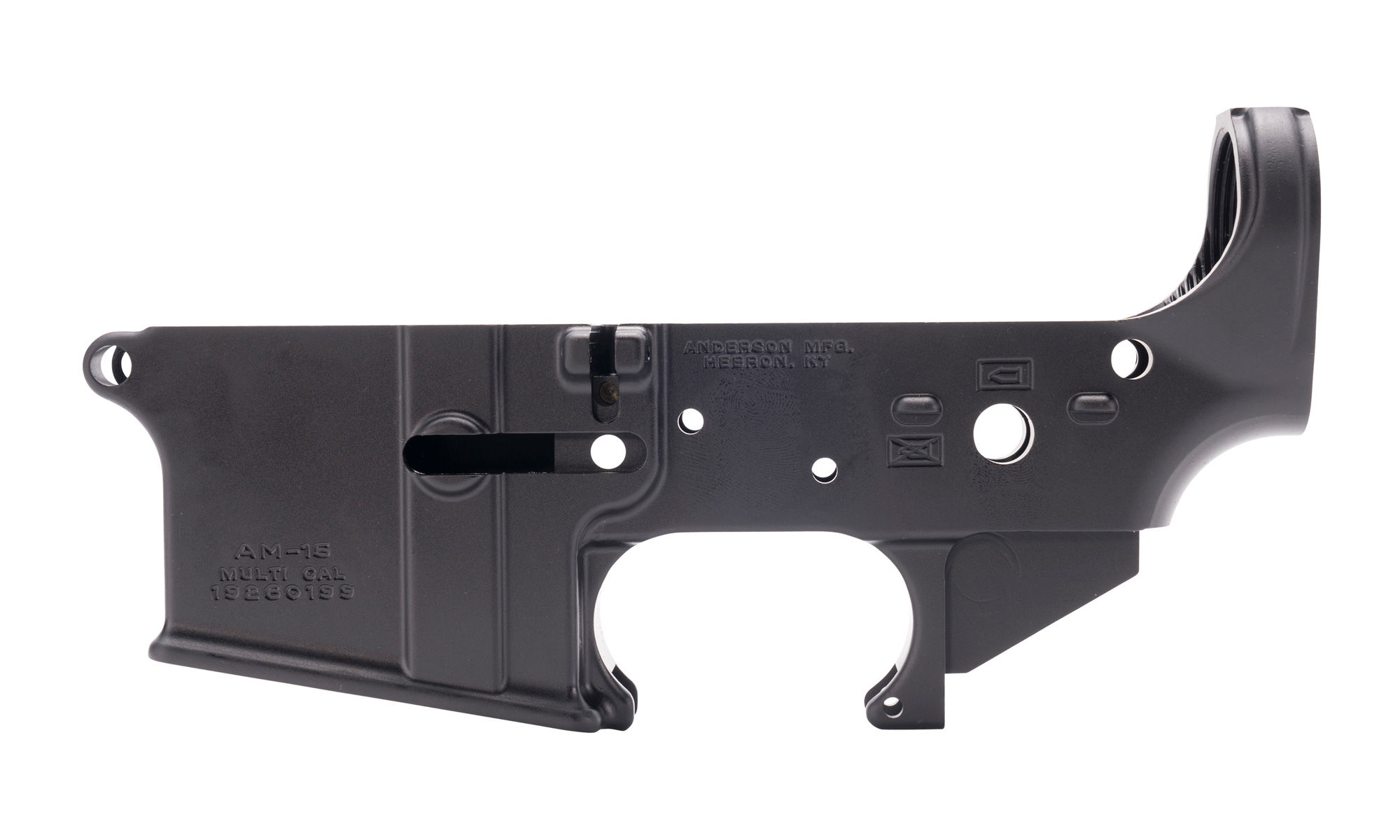 Anderson Manufacturing -- Stripped Lower Receiver No-Logo