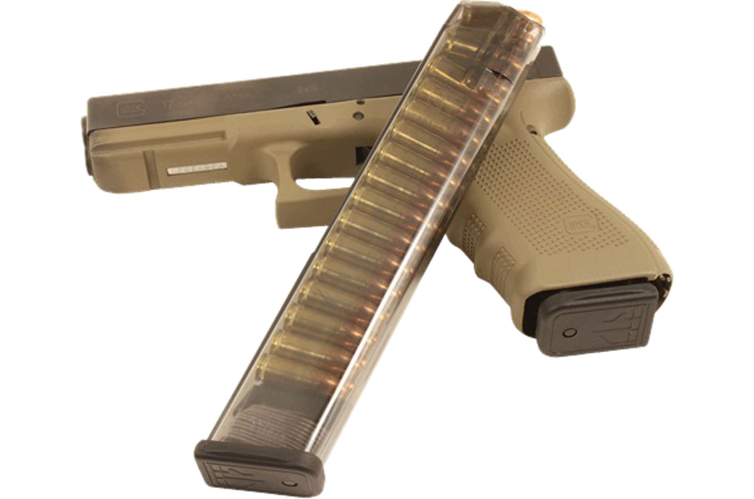 ETS Group GLK-18 Glock Compatible 9mm Luger G17,18,19,19x,26,34,45 31rd Clear Extended